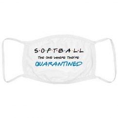 Funny Quarantine Softball Mask