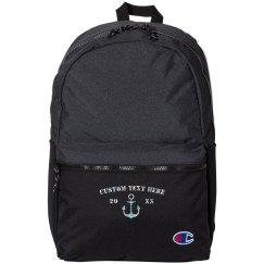 Custom Glitter Anchor BackPack