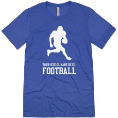 Made-to-Order School Name, Football T-Shirt