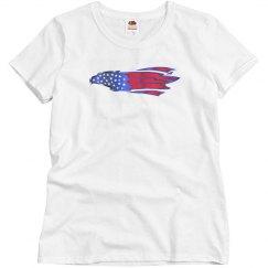 USA Eagle - Misses Fruit of the Loom Tee