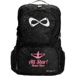 All Star Cheerleader Custom Name Nfinity Sparkle Pack