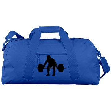 Big Blue Workout Duffle Bag
