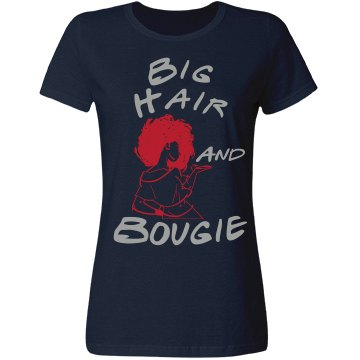 Big Hair and Bougie Tee-Navy