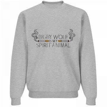 """Bigby is My Spirit Animal"" Sweatshirt"