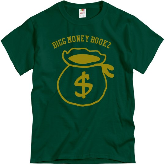 Bigg money Bookz design 3 forest green