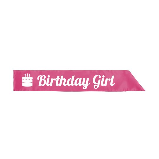 Birthday Babe Party Sash Gift