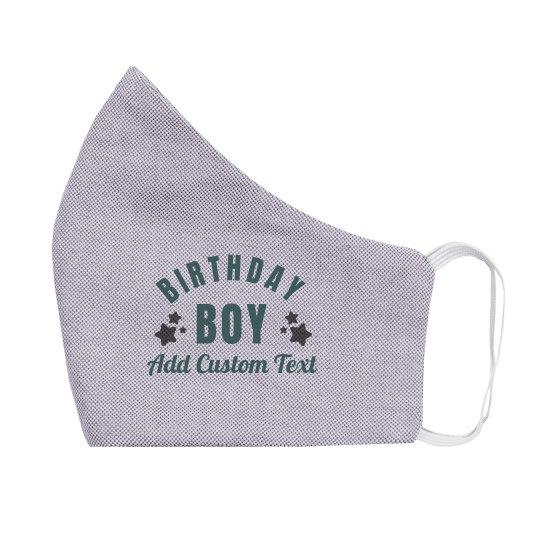 Birthday Boy Custom Kids Mask