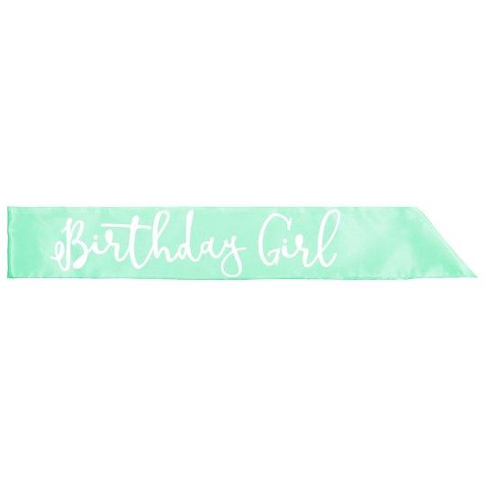Birthday Girl Party Sash