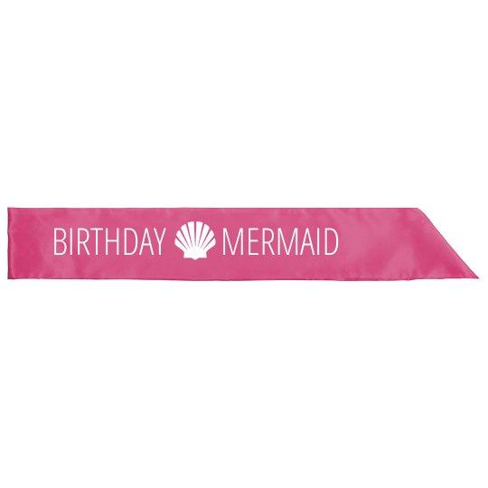 Birthday Mermaid Sash For Girls