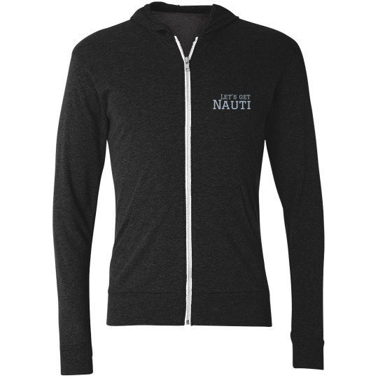 Black - Ladies Lightweight Zip Up Hoodie