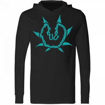 Black & Teal Hooded T-shirt