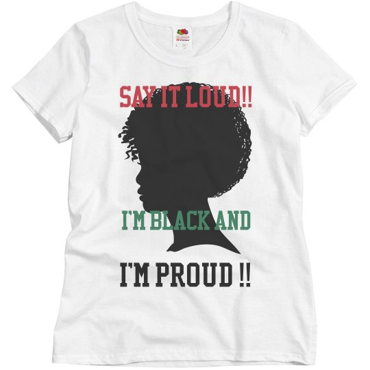 Black and proud tshirt
