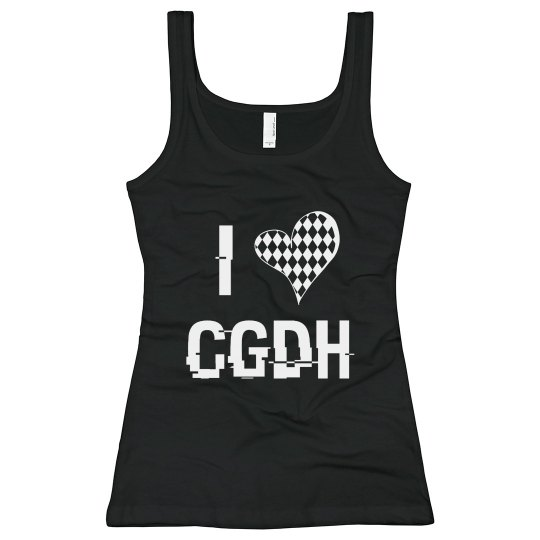 Black and White I Heart CGDH Tank