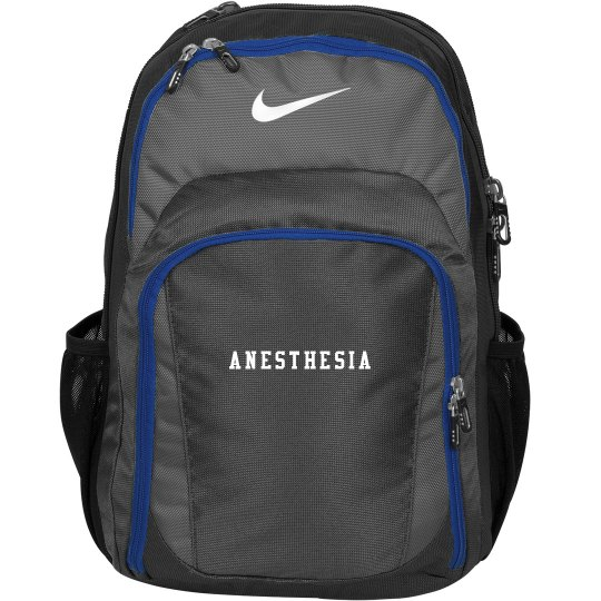 Black back pack- Anesthesia
