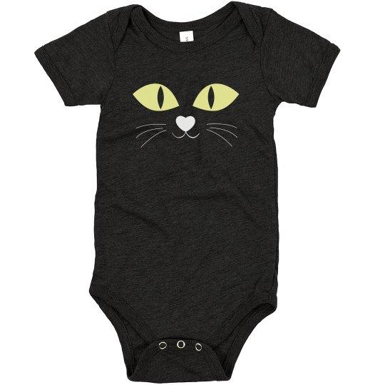 Black Cat Halloween Onesie