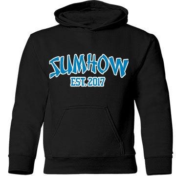 Black Firm Fit Hoodie w/Blue