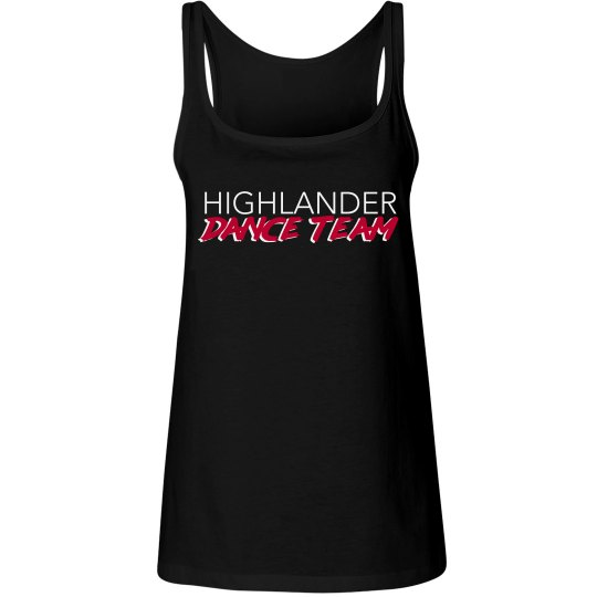 Black HDT relaxed fit tank