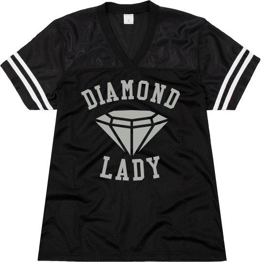 Black Ladies Jersey Shirt