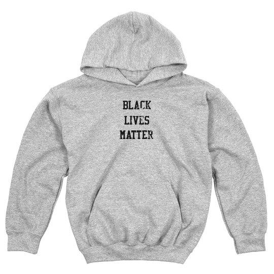 Black Lives Matter Front & Back Design Youth Sweatshirt