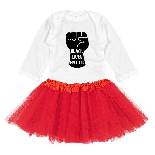 Black Lives Matter Infant Baby Bodysuit With Tutu