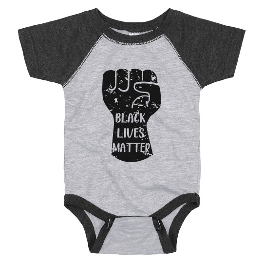 Black Lives Matter Infant Onsie Raglan Bodysuit