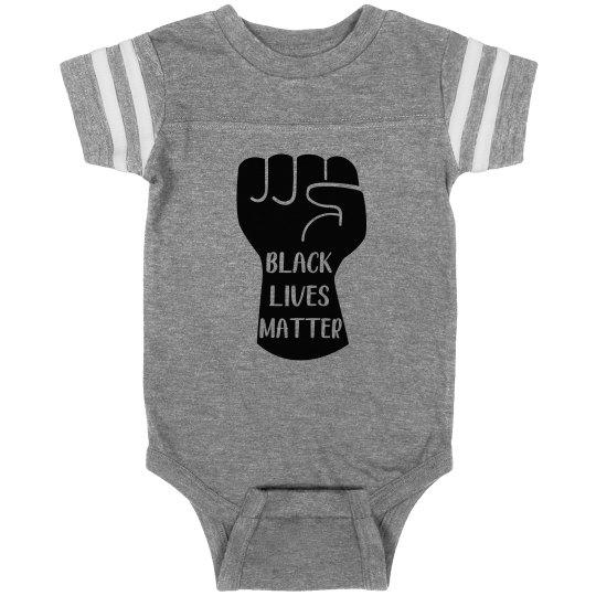 Black Lives Matter Infant Onsie Sports Bodysuit