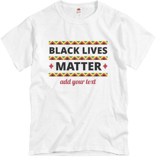 Black Lives Matter Kwanzaa Custom Tee