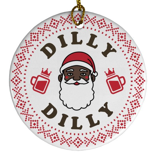 Black Santa Beer Dilly Dilly