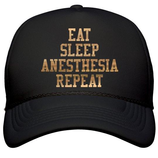 Black Snap Back- Eat. Sleep. Anesthesia. Repeat