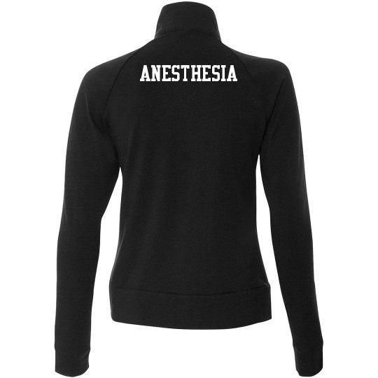 Black women's zip up- Anesthesia