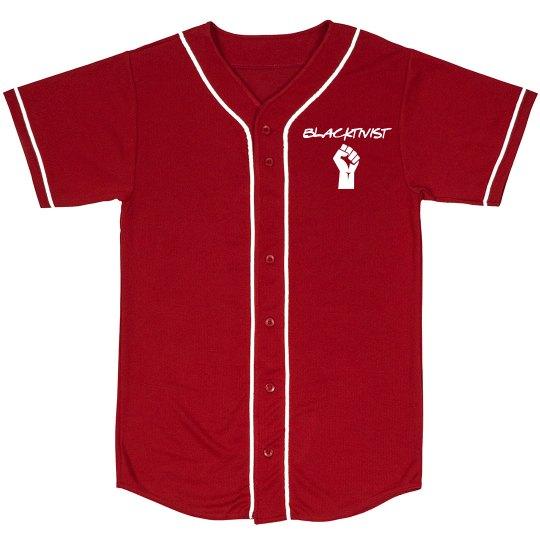 Blacktivist red jersey front