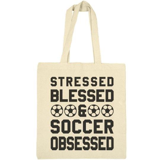 Blessed Soccer Mom Bag