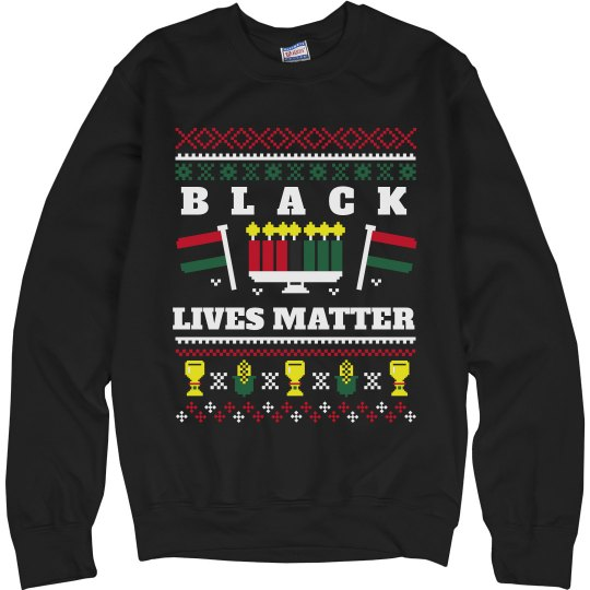 BLM Ugly Kwanzaa Sweater