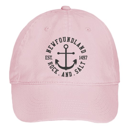 Blossom pink canvas Rock and Salt cap