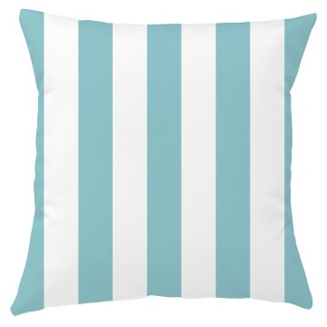 Blue And White Stripe Throw Pillow Cover