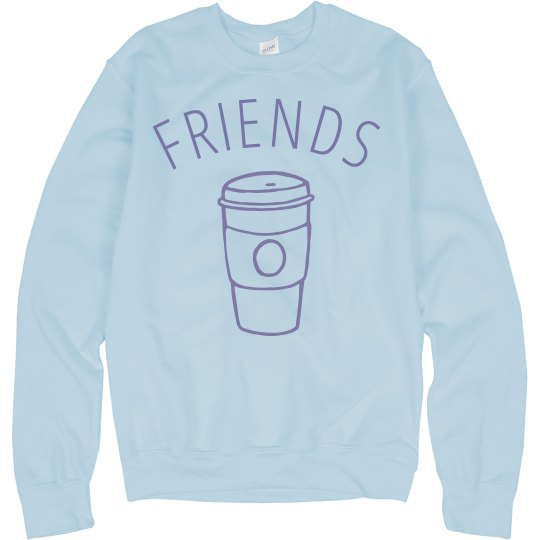 Blue Coffee And Donuts Friends