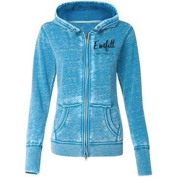 Blue Emfitt zip