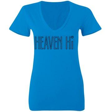 Blue Heaven hi v-neck