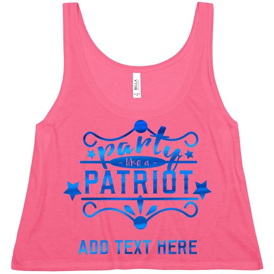 Blue Metallic July 4th Party Patriot