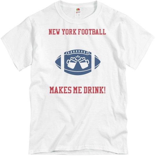 Blue New York Football