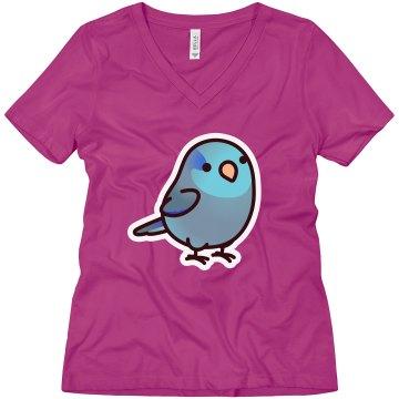 Blue Parrotlet V-Neck
