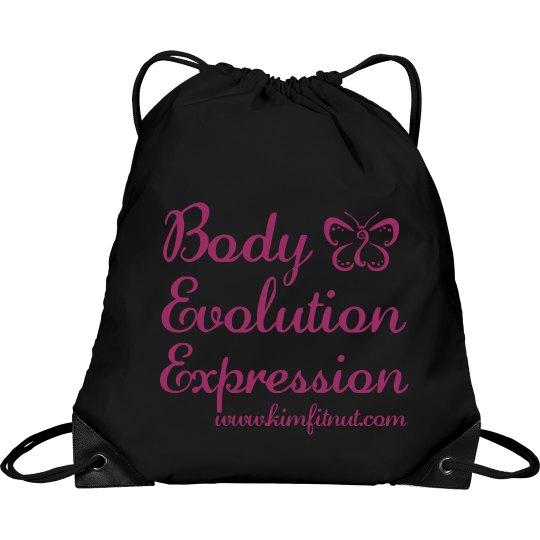 Body Evolution Expression Cinch bag/tote