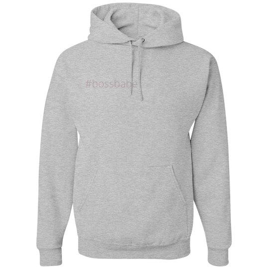 #bossbabe hoodie-gray