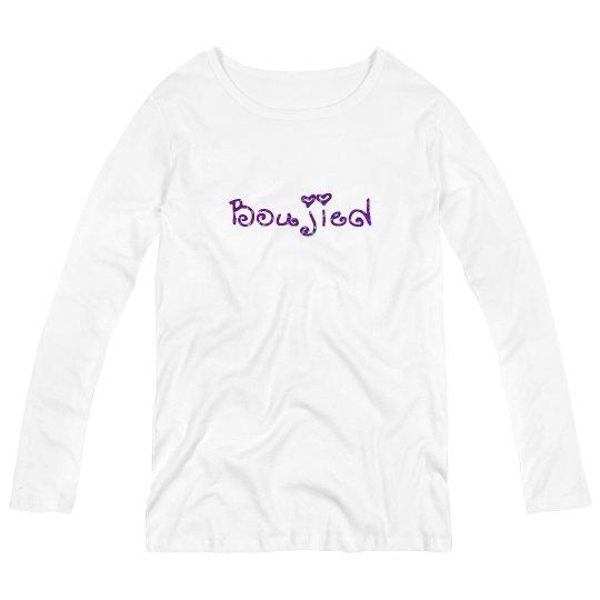 Bougied Purple Glitter Text