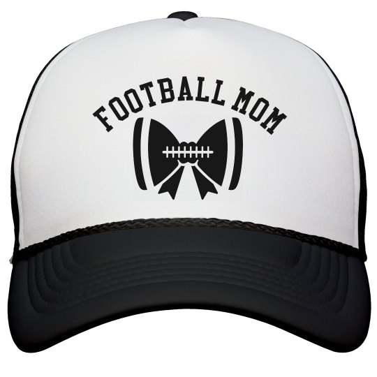 Bow Football Mom Hat