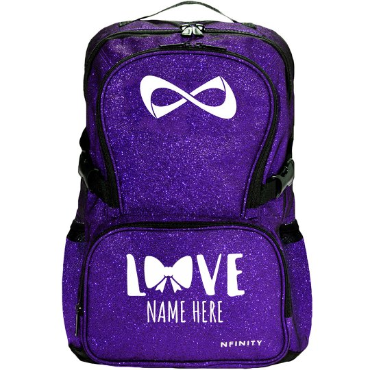 Bow With Love Cheer Backpack