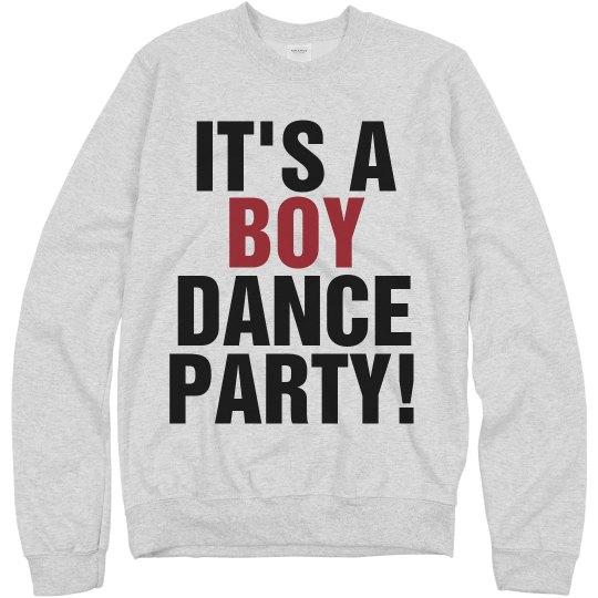 Boy Dance Party Text