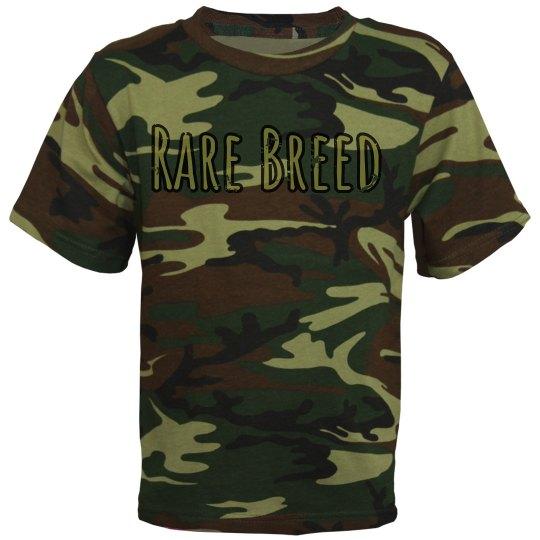 """Boy's """"Rare Breed"""" Shirt Camo Green"""