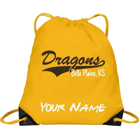 BP personalized drawstring bag