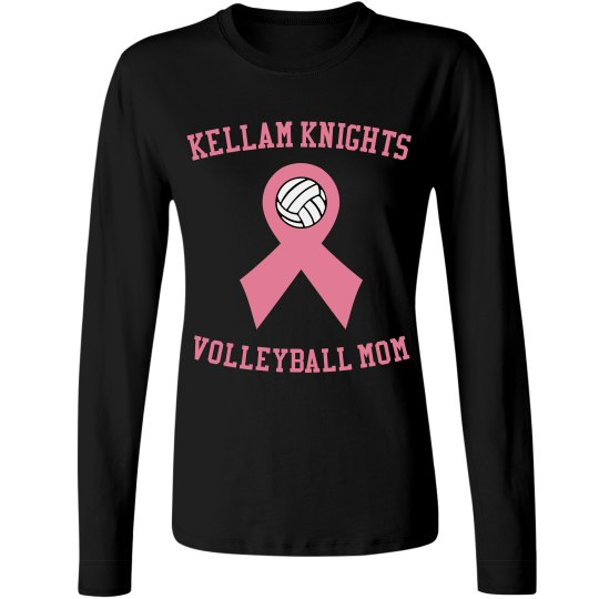 Breast cancer awareness volleyball mom t